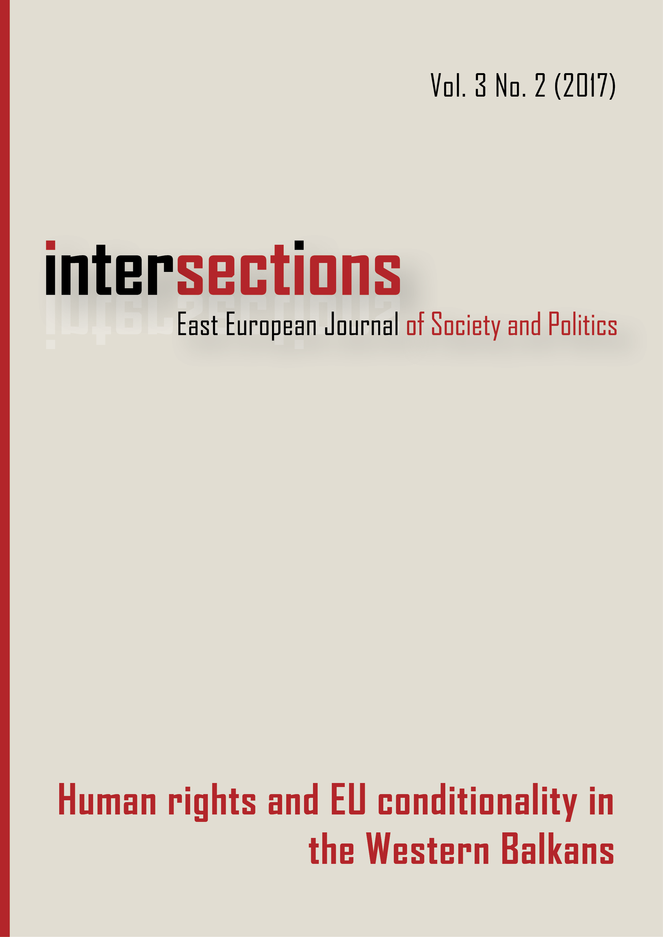 View Vol. 3 No. 2 (2017): Human Rights and EU Conditionality in the Western Balkans