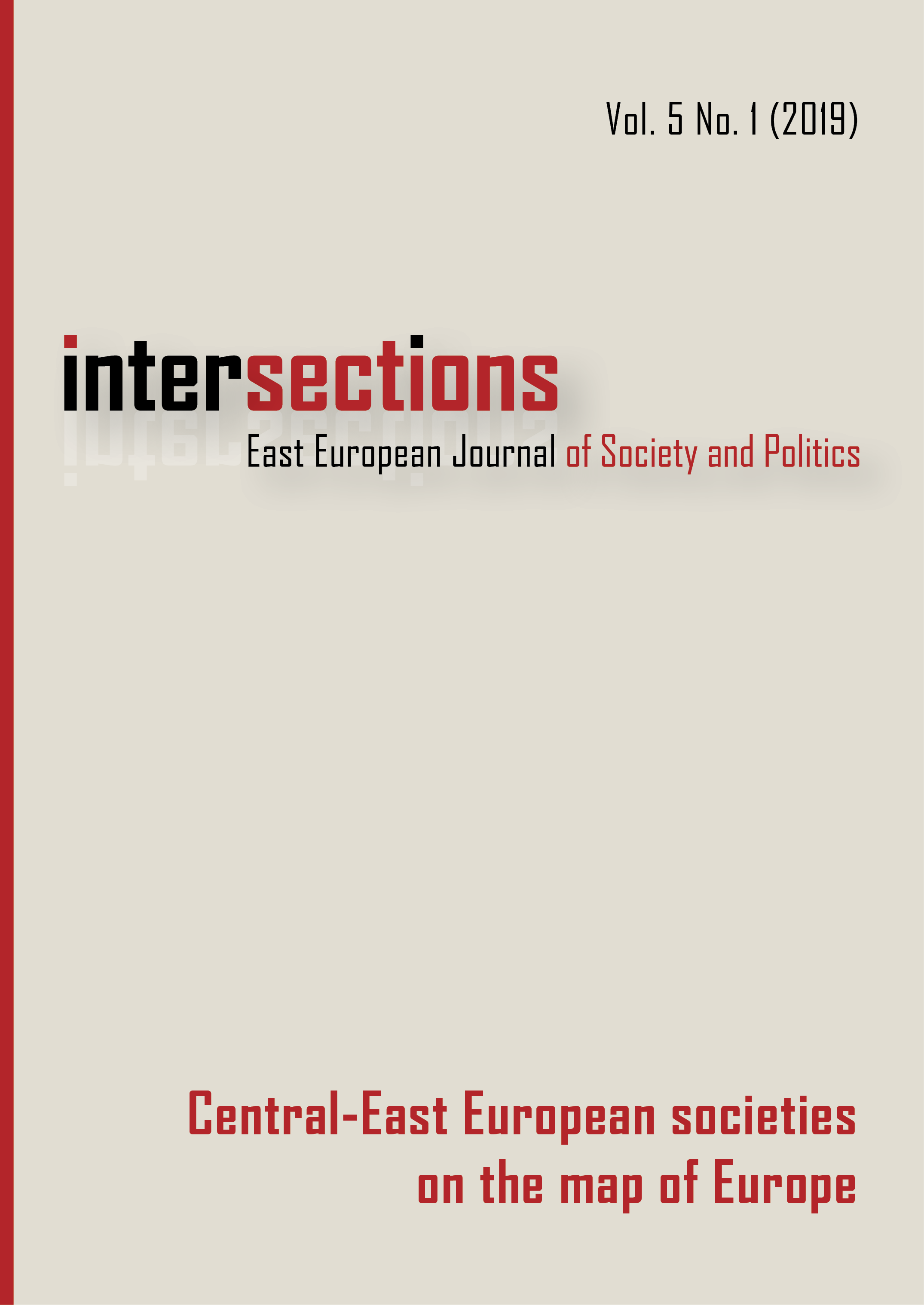 View Vol. 5 No. 1 (2019): Central-East European societies on the map of Europe