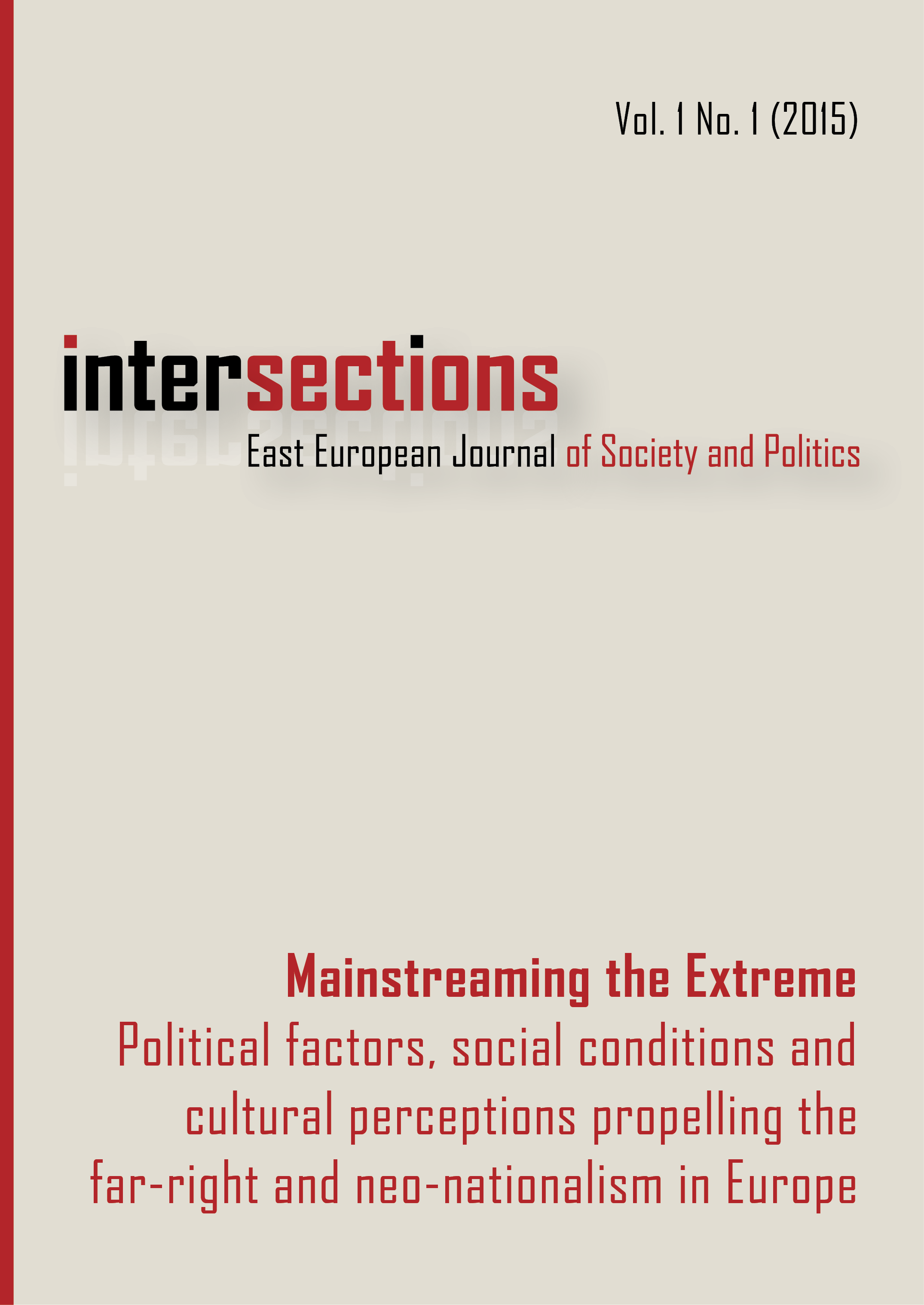 View Vol. 1 No. 1 (2015): Mainstreaming the Extreme