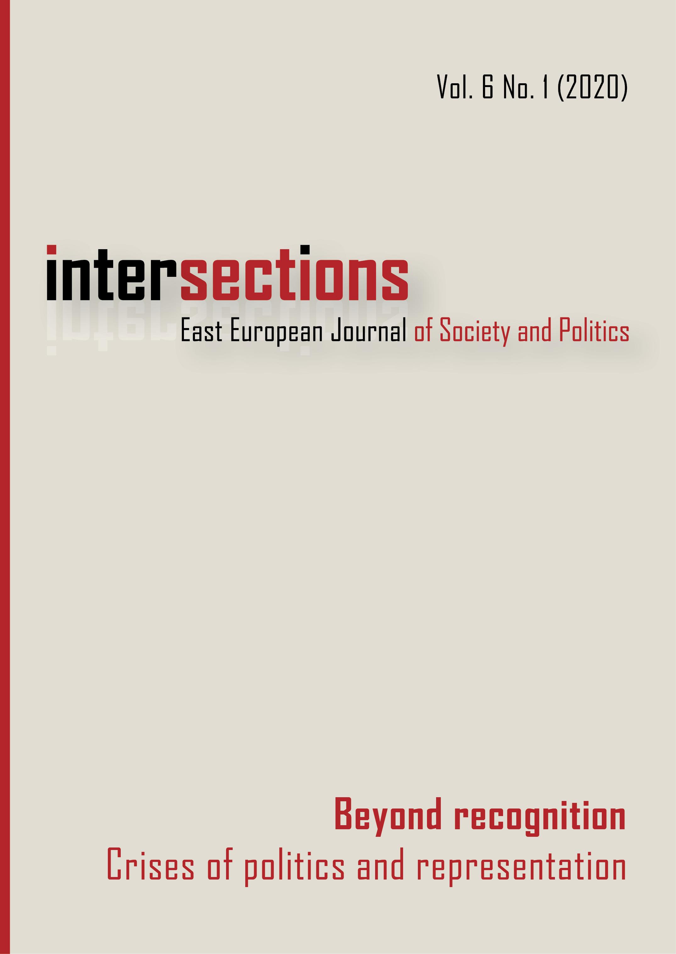 View Vol. 6 No. 1 (2020): Beyond Recognition: Crises of Politics and Representation