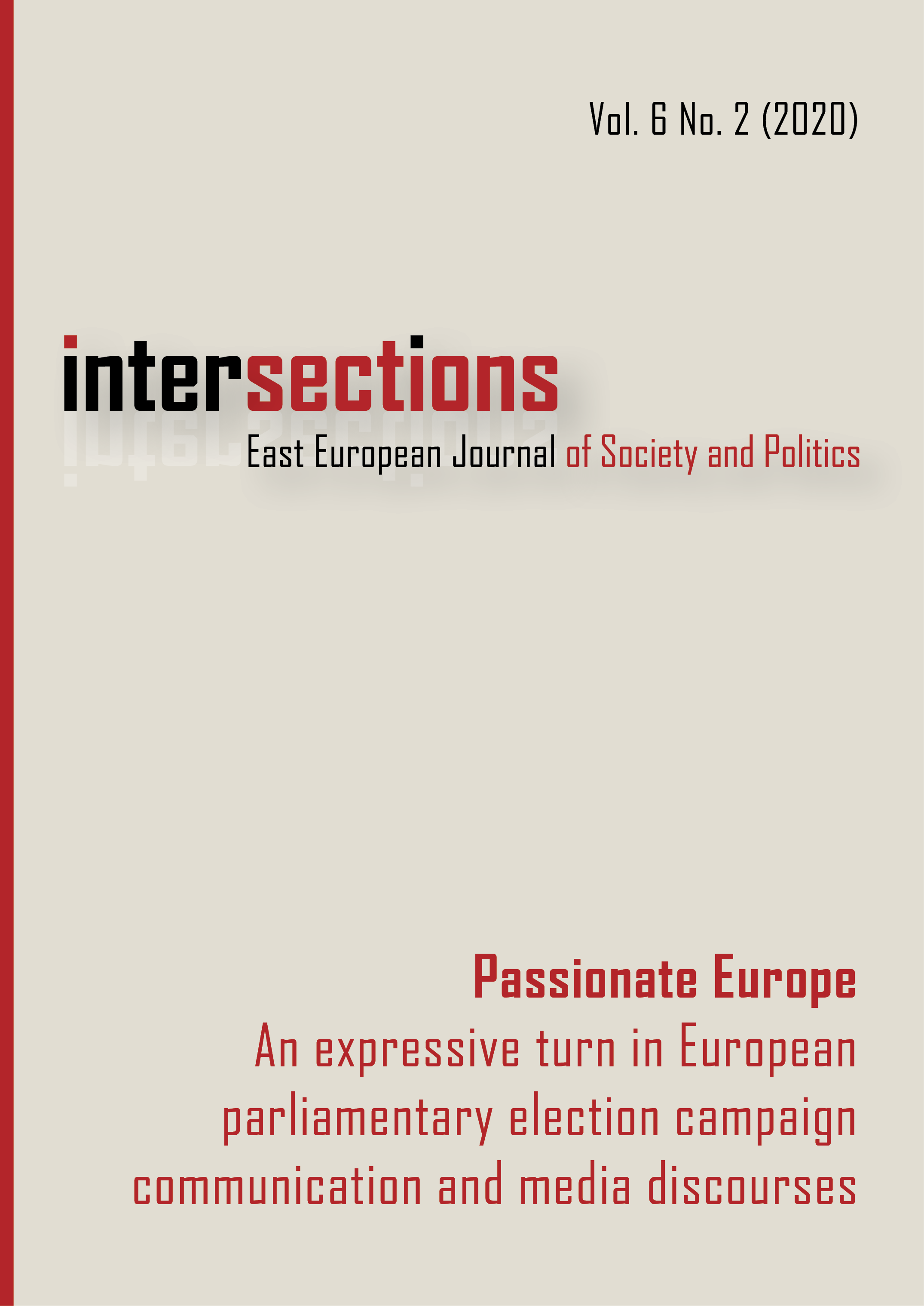 View Vol. 6 No. 2 (2020): Passionate Europe. An expressive turn in European parliamentary election campaign communication and media discourses
